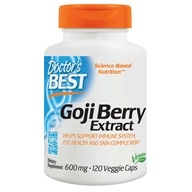 Doctor's Best - Best Goji Berry Extract 600 mg. - 120 Vegetarian Capsules (753950001534)