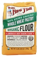 Bob's Red Mill - Whole Wheat Pastry Flour Stone Ground Organic - 48 oz. - $4.78