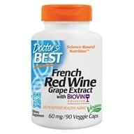 Doctor's Best - Best French Red Wine Extract 60 mg. - 90 Vegetarian Capsules (753950000582)
