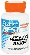 Doctor's Best - Best Vitamin D3 1000 IU - 180 Softgels, from category: Vitamins & Minerals