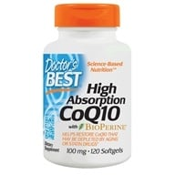Doctor's Best - High Absorption CoQ10 100 mg. - 120 Softgels (753950001831)