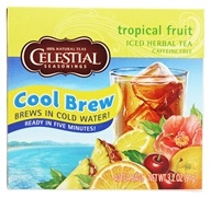 Celestial Seasonings - Cool Brew Tropical Fruit Iced Herbal Tea Caffeine Free - 40 Tea Bags, from category: Teas