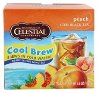 Celestial Seasonings - Cool Brew Peach Iced Black Tea - 40 Tea Bags