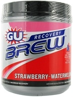 GU Energy - GU Recovery Brew Canister Strawberry Watermelon - 840 Grams, from category: Sports Nutrition