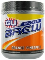 GU Energy - GU Recovery Brew Canister Orange Pineapple - 840 Grams CLEARANCED PRICED - $22.20