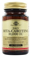 Solgar - Dry Beta Carotene 10000 IU - 100 Tablets, from category: Vitamins & Minerals