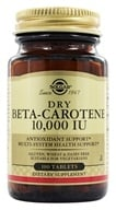 Image of Solgar - Dry Beta Carotene 10000 IU - 100 Tablets