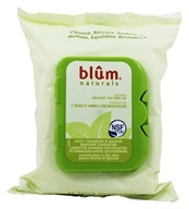 Image of Blum Naturals - Daily Cleansing Towelettes With Organic Tea Tree Oil For Combination & Oily Skin - 30 Towelette(s)