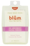 Blum Naturals - Oil Absorbing Facial Tissues - 50 Sheet(s) (895045000708)