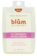 Blum Naturals - Oil Absorbing Facial Tissues - 50 Sheet(s) - $2.69