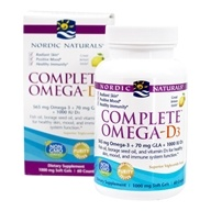 Image of Nordic Naturals - Complete Omega-D3 Lemon 1000 mg. - 60 Softgels (formerly Omega-3.6.9-D)