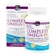 Nordic Naturals - Complete Omega-D3 Lemon 1000 mg. - 60 Softgels (formerly Omega-3.6.9-D) (768990017780)