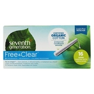 Seventh Generation - Organic Cotton Chlorine Free Super Applicator Tampons - 16 Pack