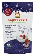 HappyBaby - HappyYogis Organic Superfoods Yogurt and Fruit Snacks Mixed Berry - 1 oz. (formerly HappyMelts Organic Yogurt Snacks), from category: Health Foods