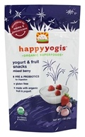 HappyFamily - HappyYogis Organic Superfoods Yogurt and Fruit Snacks Mixed Berry - 1 oz.