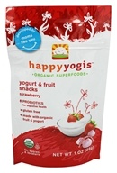 Image of HappyBaby - HappyYogis Organic Superfoods Yogurt and Fruit Snacks Strawberry - 1 oz. (formerly HappyMelts Organic Yogurt Snacks)