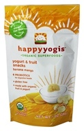 HappyBaby - HappyYogis Organic Superfoods Yogurt and Fruit Snacks Banana Mango - 1 oz. (formerly HappyMelts Organic Yogurt Snacks) (852697001491)