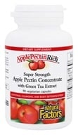 Natural Factors - Apple Pectin Rich Super Strength Apple Pectin Concentrate 500 mg. - 90 Vegetarian Capsules - $11.97