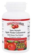 Natural Factors - Apple Pectin Rich Super Strength Apple Pectin Concentrate with Green Tea Extract - 90 Vegetarian Capsules
