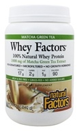 Natural Factors - Whey Factors 100% Natural Whey Protein Matcha Green Tea - 12 oz.