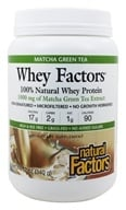 Natural Factors - Whey Factors 100% Natural Whey Protein Matcha Green Tea - 12 oz. - $15.30