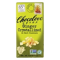 Chocolove - Dark Chocolate Bar Crystallized Ginger - 3.2 oz. by Chocolove