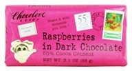 Image of Chocolove - Dark Chocolate Bar Raspberries - 3.2 oz.