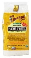 Image of Bob's Red Mill - Pancake & Waffle High Fiber Organic Whole Grain Mix - 26 oz.