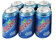 Zevia - All Natural Soda Sweetened with Stevia 12 oz. Cans Cola Flavor - 24 Pack by Zevia