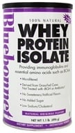 Bluebonnet Nutrition - 100% Natural Whey Protein Isolate Powder Natural Original Flavor - 1.1 lbs.