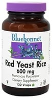 Image of Bluebonnet Nutrition - Red Yeast Rice 600 mg. - 120 Vegetarian Capsules