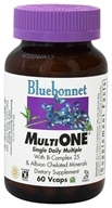 Bluebonnet Nutrition - Multi One Multivitamin & Multimineral - 60 Vegetarian Capsules, from category: Vitamins & Minerals