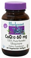 Image of Bluebonnet Nutrition - CoQ10 Ubiquinone From Kaneka 60 mg. - 60 Softgels