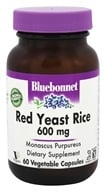 Bluebonnet Nutrition - Red Yeast Rice 600 mg. - 60 Vegetarian Capsules - $13.56