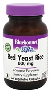 Bluebonnet Nutrition - Red Yeast Rice 600 mg. - 60 Vegetarian Capsules, from category: Nutritional Supplements