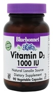 Image of Bluebonnet Nutrition - Vitamin D3 1000 IU - 90 Vegetarian Capsules