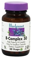 Bluebonnet Nutrition - B-Complex 50 High Potency - 50 Vegetarian Capsules, from category: Vitamins & Minerals