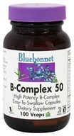 Bluebonnet Nutrition - B-Complex 50 High Potency - 100 Vegetarian Capsules, from category: Vitamins & Minerals