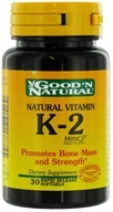 Good 'N Natural - Natural Vitamin K-2 - 30 Softgels