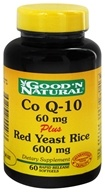Good 'N Natural - CoQ-10 Plus Red Yeast Rice - 60 Softgels, from category: Nutritional Supplements