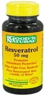 Good 'N Natural - Resveratrol 50 mg. - 60 Capsules - $11.70