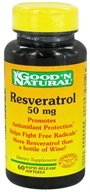 Good 'N Natural - Resveratrol 50 mg. - 60 Capsules by Good 'N Natural