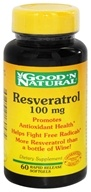 Good 'N Natural - Resveratrol 100 mg. - 60 Capsules, from category: Nutritional Supplements