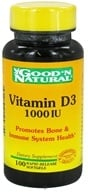 Good 'N Natural - Vitamin D3 1000 IU - 100 Softgels - $4.33