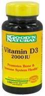 Good 'N Natural - Vitamin D3 Once Daily Formula 2000 IU - 100 Softgels