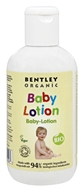 Bentley Organic - Baby Lotion 90% Organic With Chamomile Aloe Vera & Natural Vitamin E - 8.4 oz. CLEARANCE PRICED - $5.33