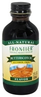 Image of Frontier Natural Products - All-Natural Alcohol-Free Flavor Butterscotch - 2 oz.