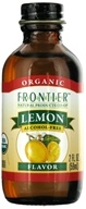 Image of Frontier Natural Products - Organic Alcohol-Free Flavor Lemon - 2 oz.