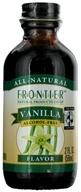 Image of Frontier Natural Products - All-Natural Alcohol-Free Flavor Vanilla - 2 oz.