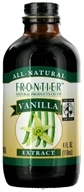 Frontier Natural Products - All-Natural Extract Vanilla - 4 oz. (089836231222)